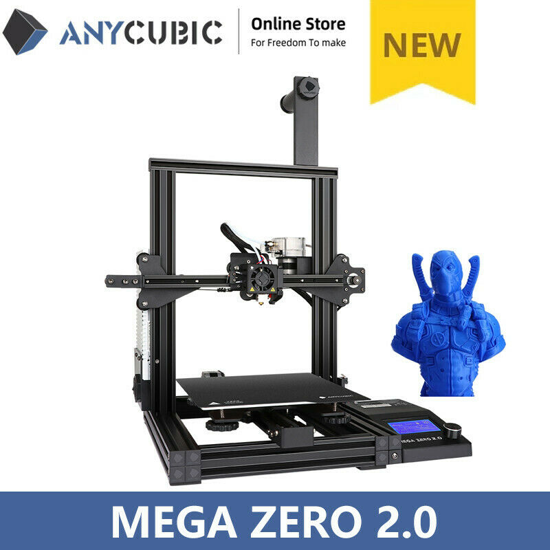 New ANYCUBIC 3D Printer Mega Zero 2.0 Fast Heat-up Easy Leveling + Free 10m PLA
