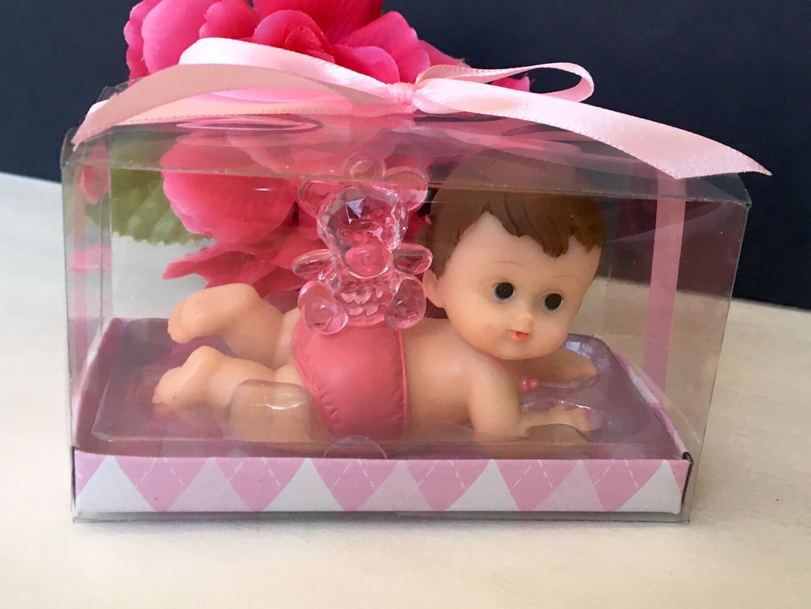 12-Baby Shower Favors Girl Decorations Figurines Party Recuerdos Nina Giveaways