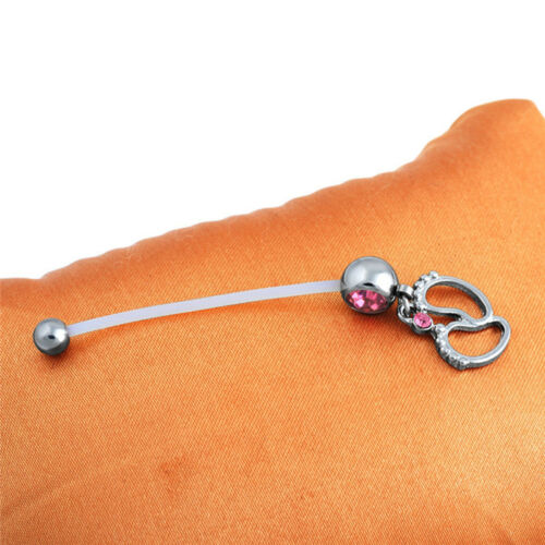 Details about  /Navel Piercing Flexible Pregnancy Maternity Rings Body Baby Feet Belly PiercYZF