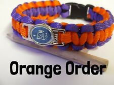 Orange Order Paracord Wristband