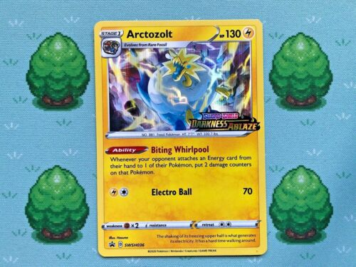 SWSH036 Pokemon Arctozolt Prerelease Promo SWSH Darkness Ablaze