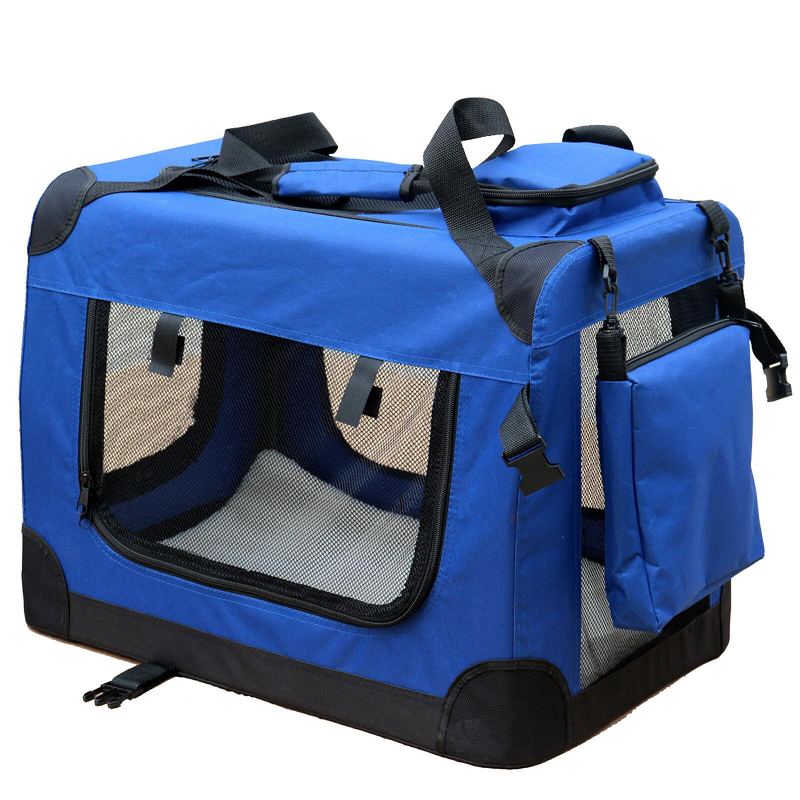 hundebox hundetransportbox transportbox reisebox auto hunde katze box xl blau ebay. Black Bedroom Furniture Sets. Home Design Ideas