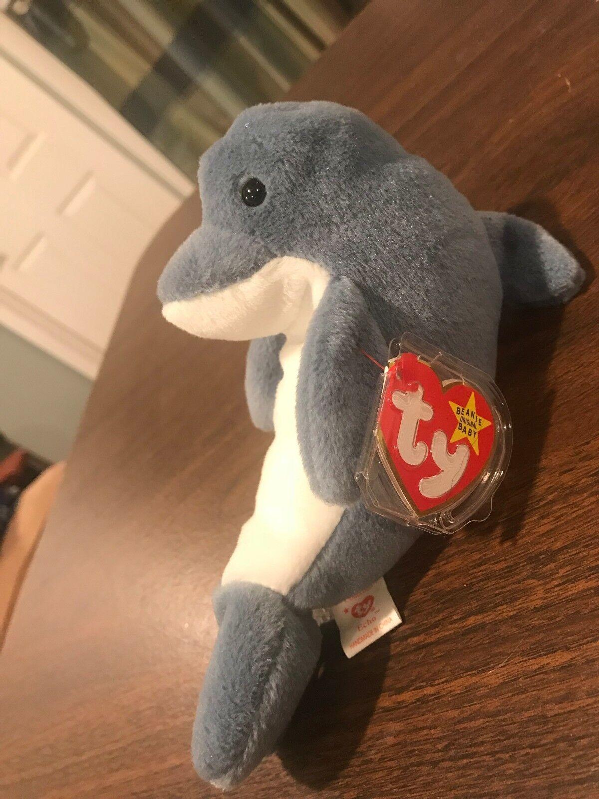 Neue ty beanie baby 1996 echo der delfin im ruhestand stofftiers mwmt