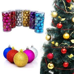 Christbaumkugeln Lila Kunststoff.Details About New 24x Set Christbaumkugeln Weihnachtskugeln Baumkugeln Kunststoff Pvc Dekor