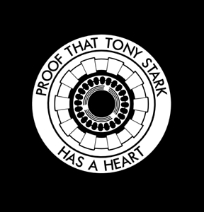Proof That Tony Stark Has A Heart Decal