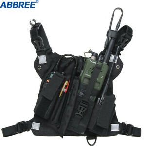 Abbree-Chest-Harness-Front-Pack-Pouch-Holster-Carry-Case-for-Baofeng-UV-5R-UV-82