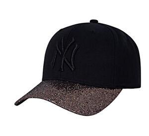 New NY Yankees Adjustable Cap MLB Korea Gold Raised Embroidery ... 8621b8043