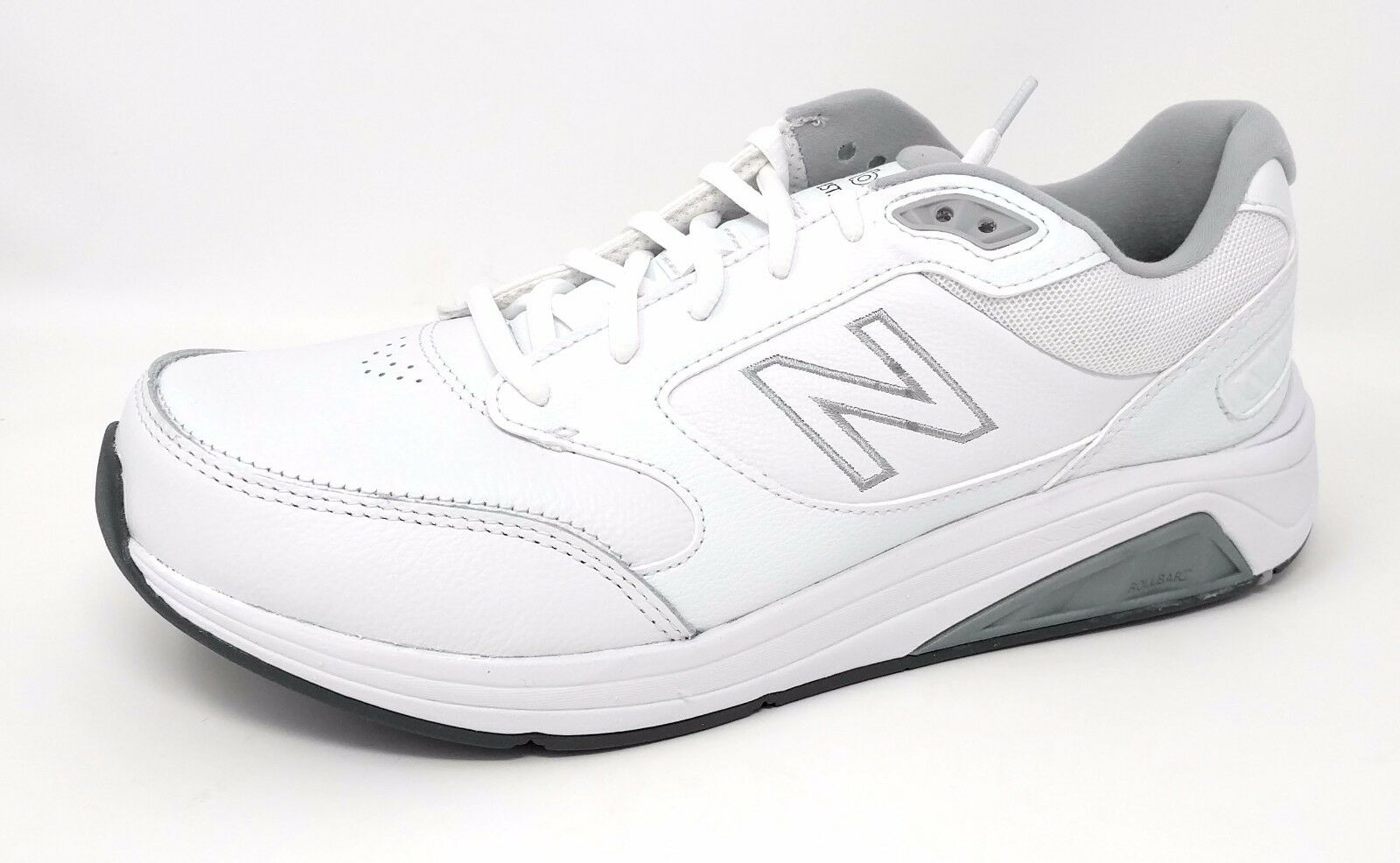 New Balance Men's Walking #MW928WT3  White/Gray Leather Medium Width
