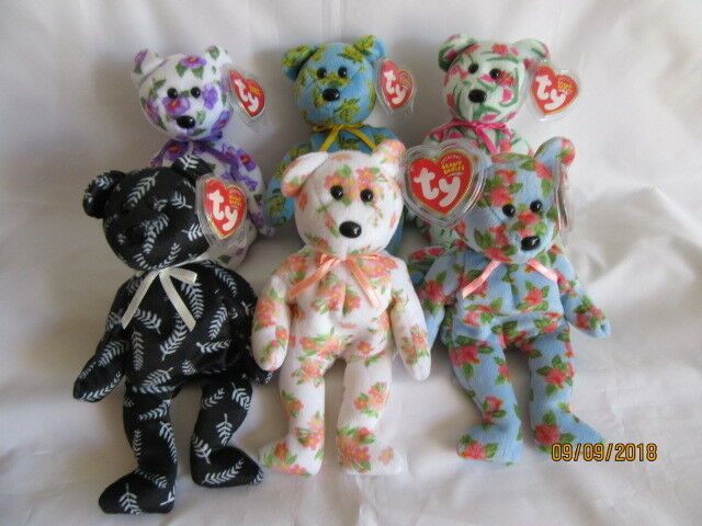 TY BEANIE BABY ASIA PACIFIC EXCLUSIVE BEARS X 6- MINT - RETIRED