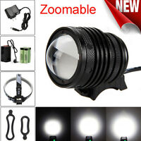 5000Lm Zoomable T6 LED Bicycle bike Head Light Headlamp Rechargeable Head Lamp