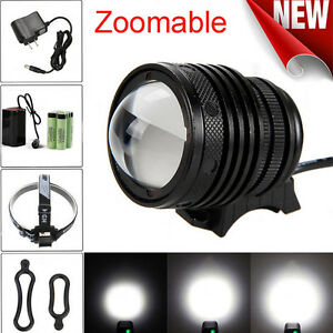 5000Lm-Zoomable-T6-LED-Bicycle-bike-Head-Light-Headlamp-Rechargeable-Head-Lamp