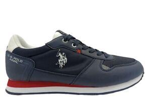 Scarpe uomo US Polo 4096 sneakers casual sportive basse leggere tempo libero blu