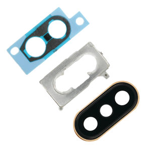 Appareil-Photo-Lentille-Set-Pour-IPHONE-XS-Or-Reel-Verre-Support-Joint-Cadre