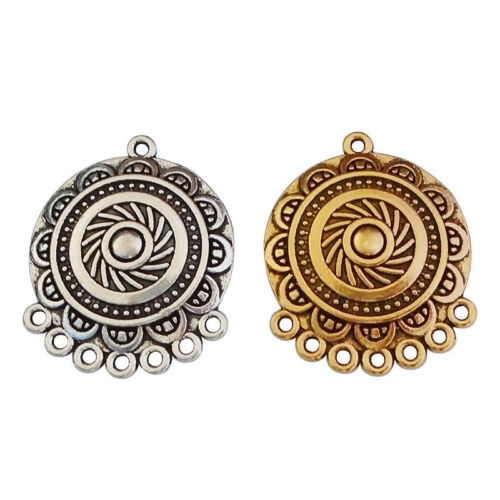 10 x Antique Silver//Gold Chandelier Earring Connectors Links Charms Pendants