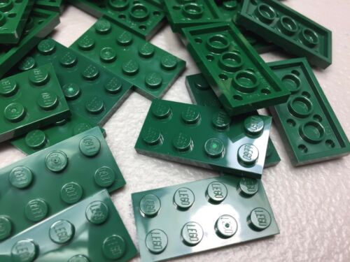 LEGO 2x4 Plates Dark Green LOT OF 25 3020 NEW