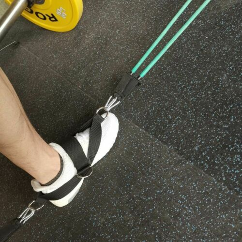 4 D-Rings Ankle Strap for Cable Machines and Resistance Bands Glute Leg Band
