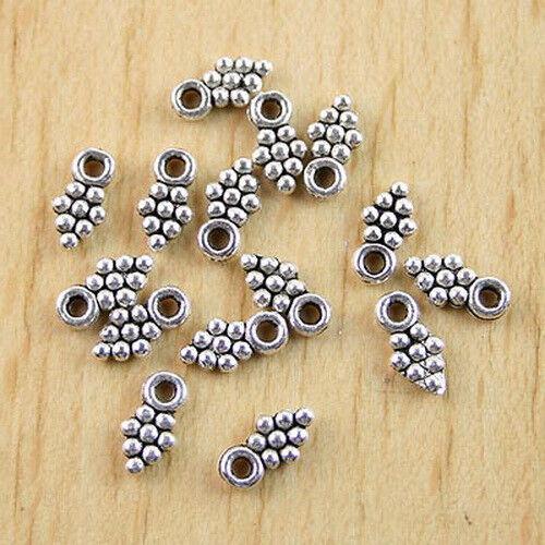 150Pcs Tibetan silver leaves drops findings h0295