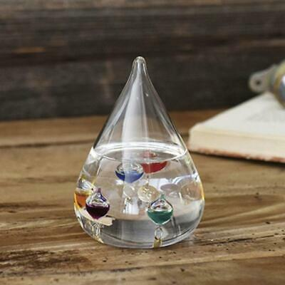 New Galileo Thermometer Water Drop Weather Forecast Bottle Creative Decoration