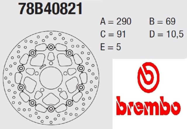 Brake disc BREMBO Serie Oro FRONT Suzuki 600 GSX F 04 > 06