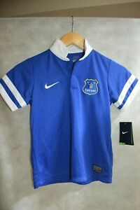MAILLOT-FOOT-NIKE-EVERTON-TAILLE-7-8-ANS-JERSEY-MAGLIA-FOOTBALL-NEUF
