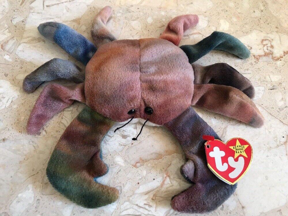TY Beanie Babies - Claude the Crab - RARE Indonesia Errors