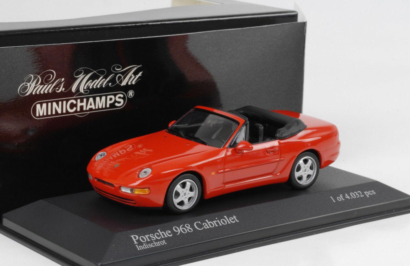 Porsche 968 Cabriolet 1994 rouge Minichamps 1 43