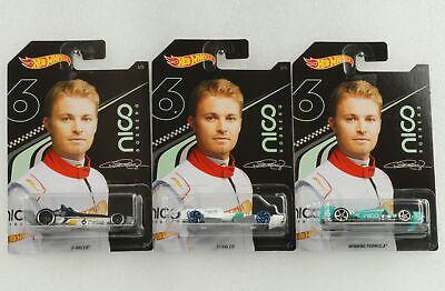 Nico Rosberg f1 f winning formula set 3 PCs 1:64 Hot Wheels ggc34