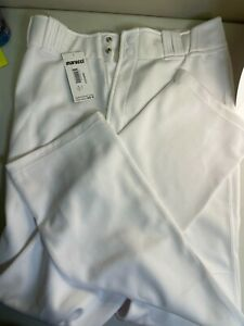 Marucci Adult White Athletic Tapered Leg Baseball Double Knit Pant Size XL