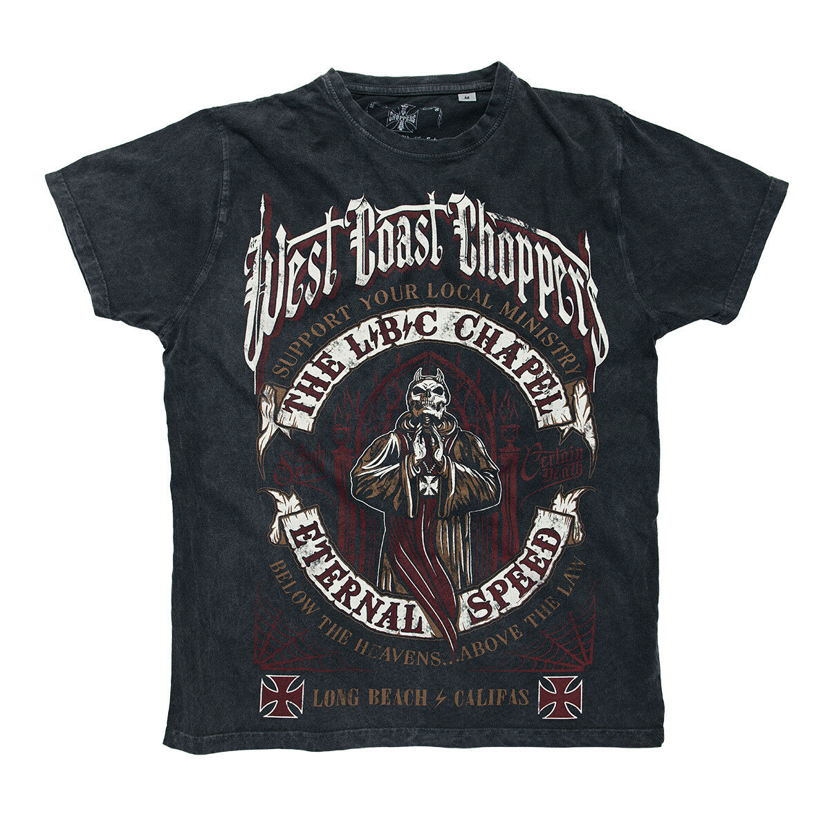 West Coast Choppers vintage T-Shirt Hommes The Chapel Anthracite vintage Choppers S à 3xl Neuf 3db966