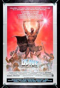 HEAVY METAL * CineMasterpieces 1SH VINTAGE ORIGINAL MOVIE ...