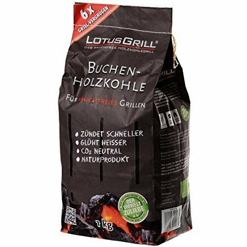 NEW LOTUS GRILL CHARCOAL AND LIGHTING GEL COMBO SMOKELESS BBQ 1KG COAL