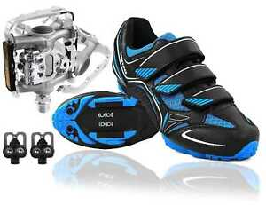 Venzo-Mountain-Bike-Bicycle-Cycling-Shimano-SPD-Shoes-Multi-Use-Pedals