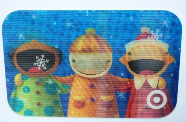 Target Gift Card Lenticular Christmas / Snowflakes in Mouth - 2007 - No Value