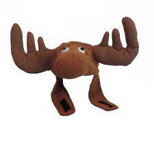 Plush Brown Crazy Moose Bullwinkle Animal Elk Hat With Antlers Deer Costume Cap