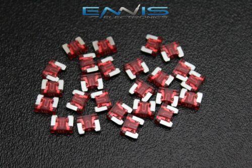 50 PACK ATM LOW PROFILE 10 AMP FUSE FUSES BLADE CIRCUIT 2 LEG MICRO ATMLP10
