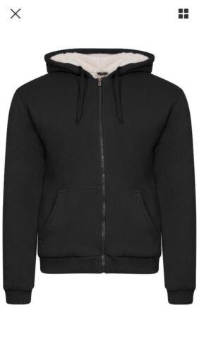 Mens Fleece Fur Bomber Hooded Jacket Coat Zip Up Hoodie Sweatshirt