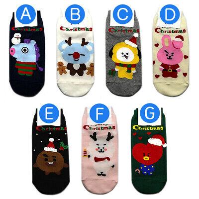 7 Pairs of socks //1 Package Kpop Boys Cute Christmas Sock Made in Korea