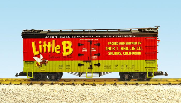 USA Trains G Escala 16462 EE. UU. hierba coche poco Abeja verduras – Rojo verde Negro