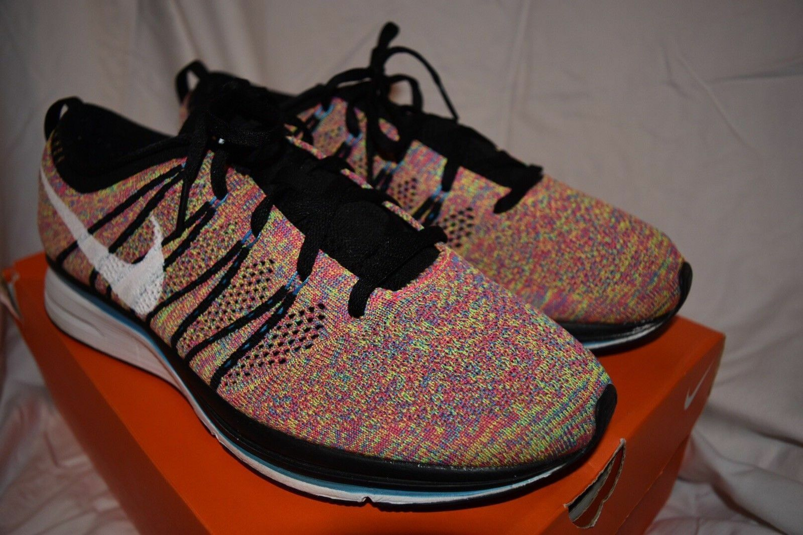 Nike Flyknit Trainer Trainer Trainer Multicolor 526628 011 Size 8 Racer yeezy nmd ultra boost pk 90b340