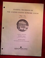 LEADING DECISIONS OF THE UNITED STATES SUPREME COURT MAPP V. OHIO,1961 (26)