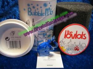 Swarovski Crystal Lovlots Bubble Mo, 2012 Limited Edition 1121763, MIB, Blue Cow