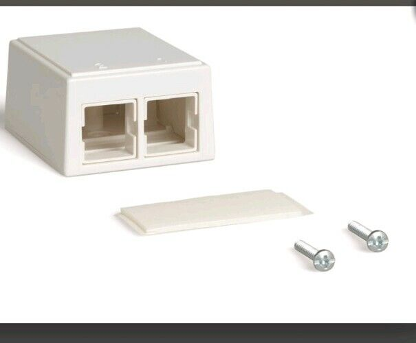 M102SMB 2-Pt White w//Adhesive 3//Pack COMMSCOPE Surface Mount Box 107-984-056