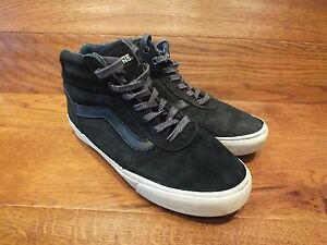 14e123ed35 Vans Old Skool Black Suede Mid Top Casual Trainers Size 4 EU 36.5