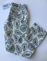 W Tags Authentic Vilebrequin 100% Linen Pants Beige & Blue For Men - Size L