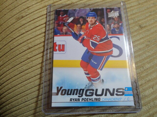 19-20 UD SER 1 YOUNG GUNS ROOKIE #226 RYAN POEHLING CANADIENS