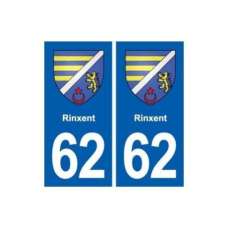 62 Rinxent blason autocollant plaque stickers ville droits