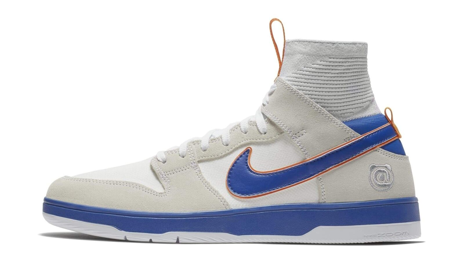 Nike x Medicom SB Zoom Dunk Elite High Bearbrick White College Blue 918287-147 Casual wild