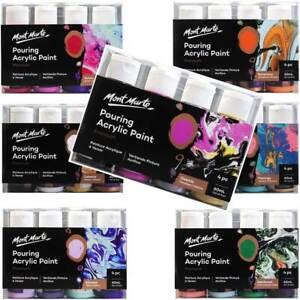 Pouring-Paint-Kit-Mont-Marte-Premium-Acrylic-Paint-Set-4-x-60ml-Arts-Supply