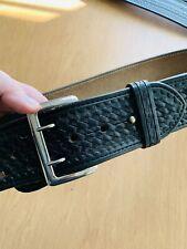 Dutyman 1021 Dutyman Black Full Grain Leather Size Police Belt 34