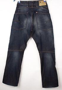 G-Star Brut Hommes Jack Conique Ample Jeans Jambe Droite Taille W31 L32 ASZ520